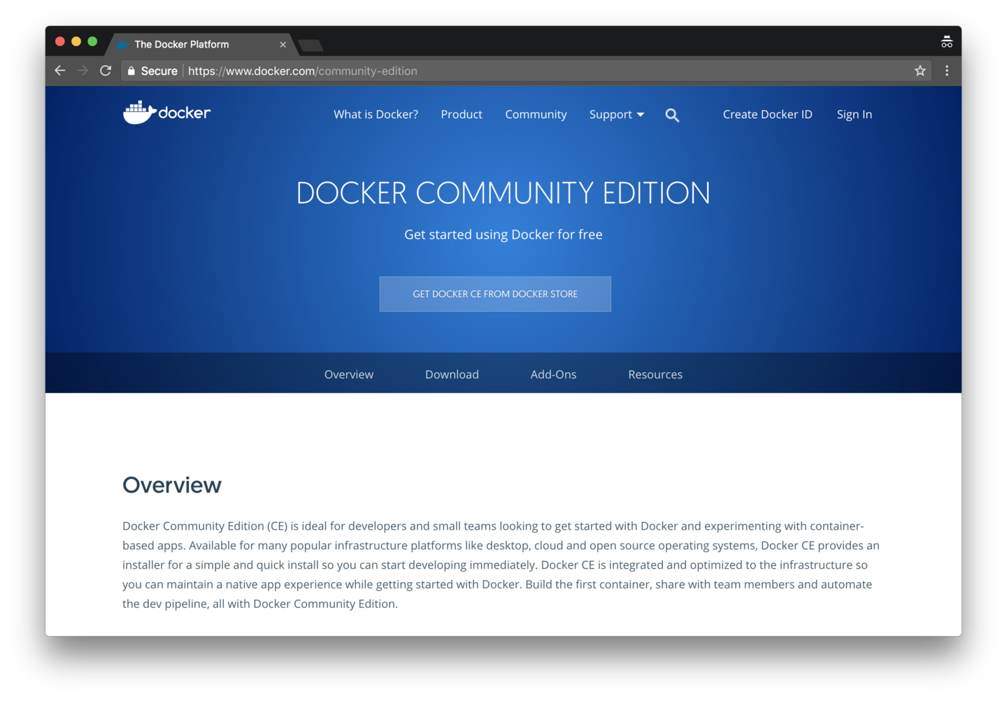 Download Docker