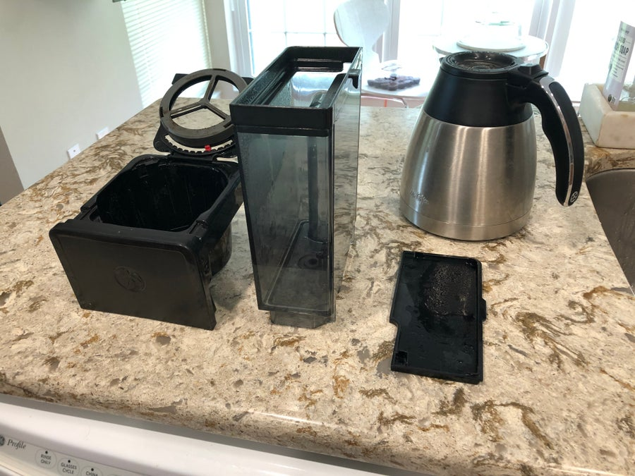 Coffee Maker Parts Removed