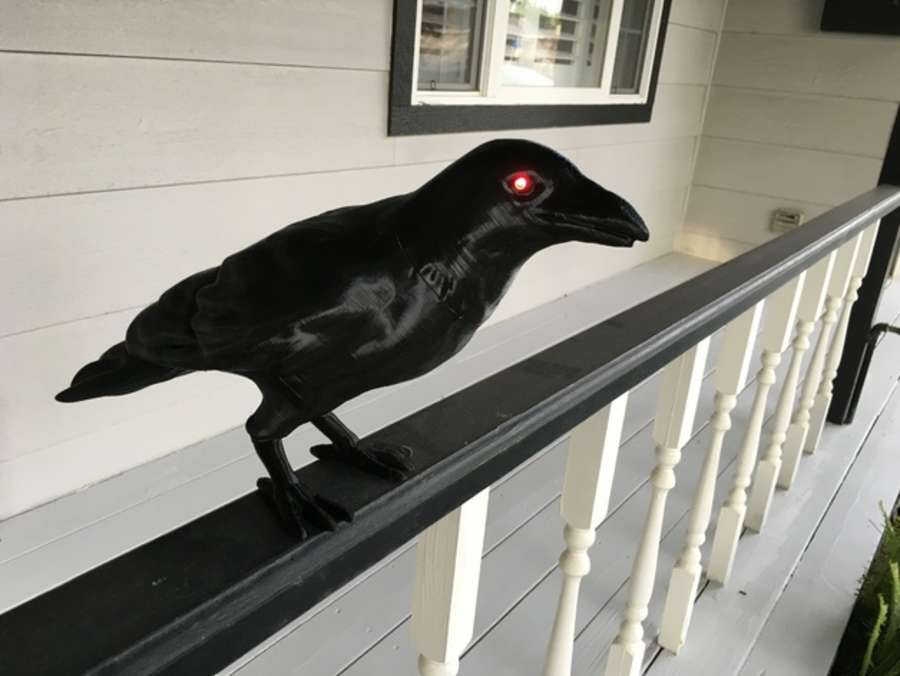 Animated 3D-printed crow