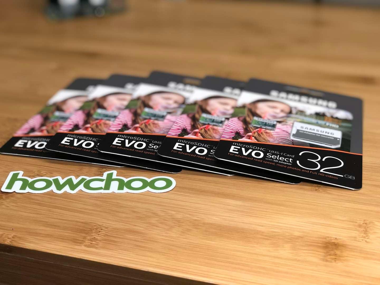 (5x) 32 GB Samsung EVO 95MB/s micro SD cards