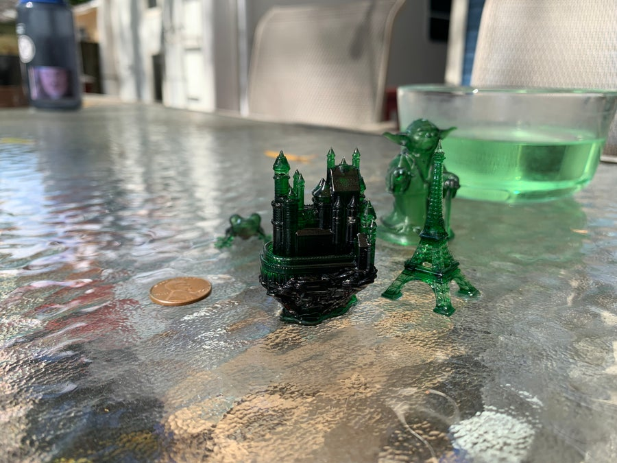3D-printed models from the Anycubic Photon S