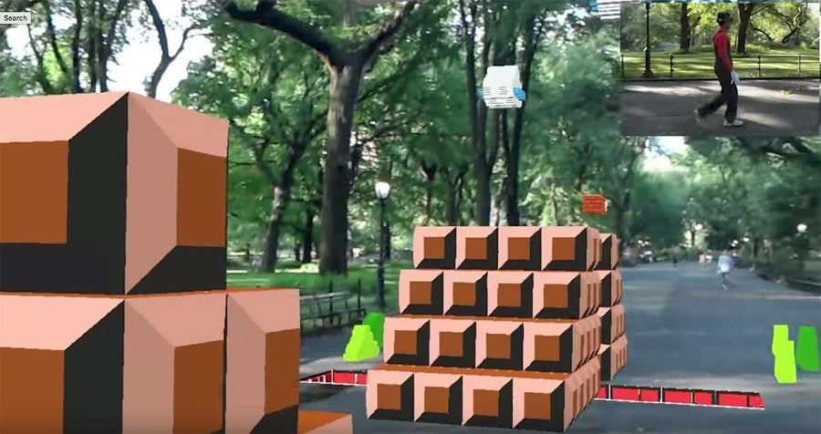 Someone Created a Life-Size Super Mario Bros Augmented Reality Game and Played It in Central Park