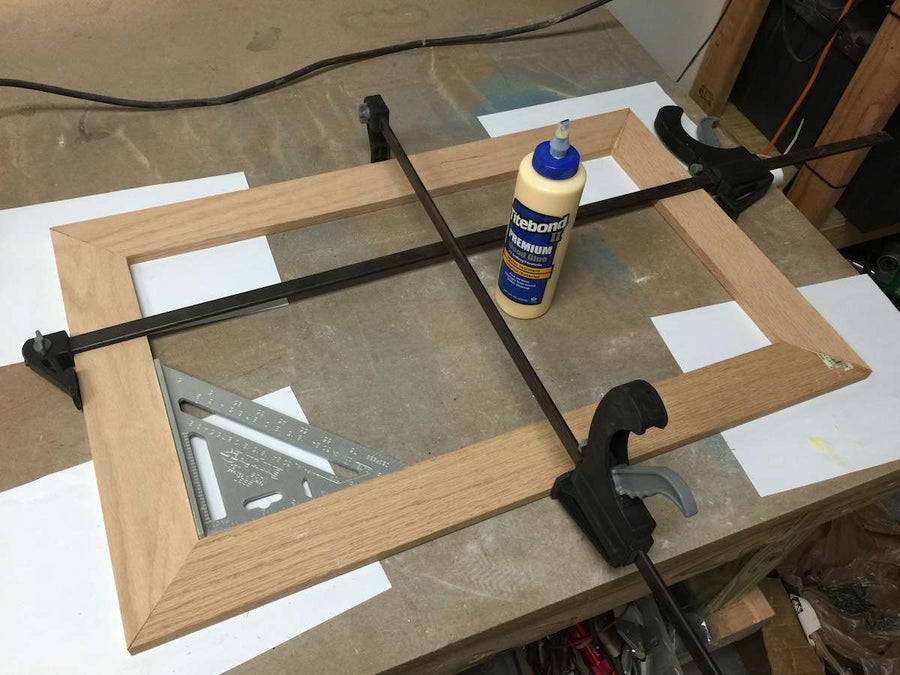 Gluing the frame
