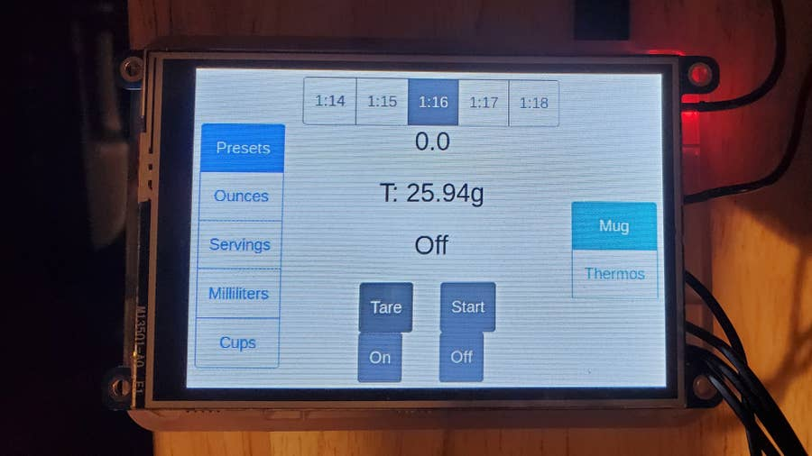 Raspberry Pi Coffee Grinder LCD