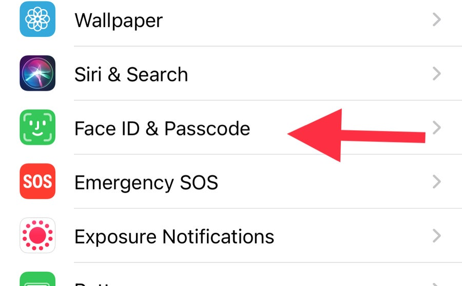 Face ID & Passcode iPhone