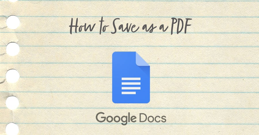 how to save as a PDF in Google Docs