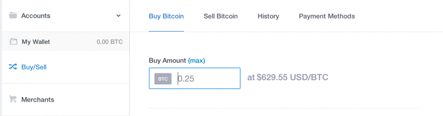 Use coinbase to purchase bitcoin