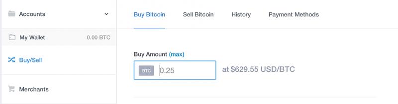 Use coinbase to purchase bitcoin