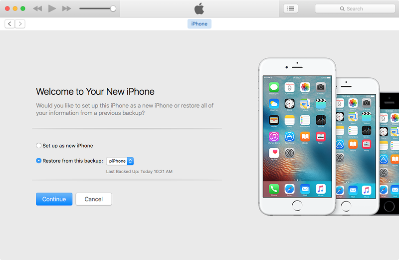 Restore your old iPhone backup onto your new iPhone