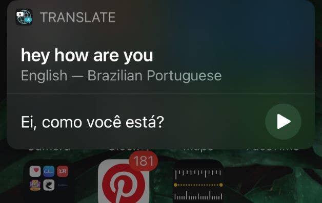 Siri Translation