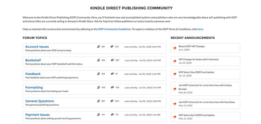 Kindle Publishing Community.
