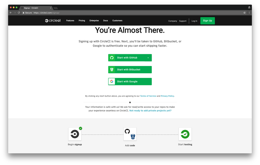 Create your CircleCI account