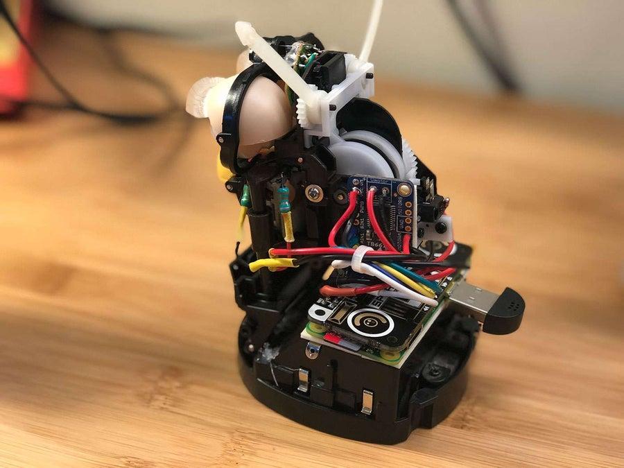 The finished Amazon Echo Furby