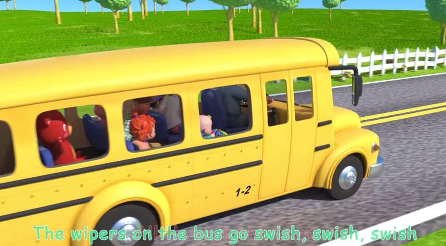 Wheels on the Bus video still