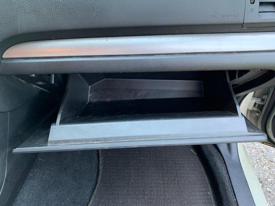 Subaru Crosstrek empty glovebox
