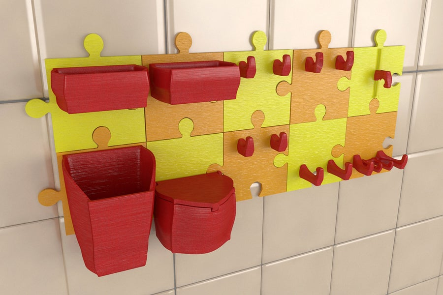 3D-printed kitchen organizer