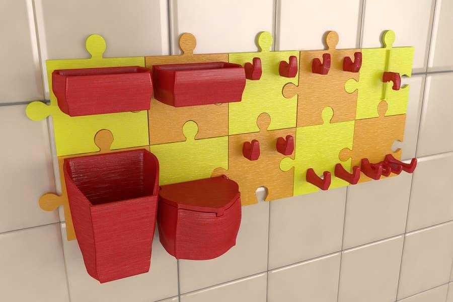 3D-printed kitchen organizer