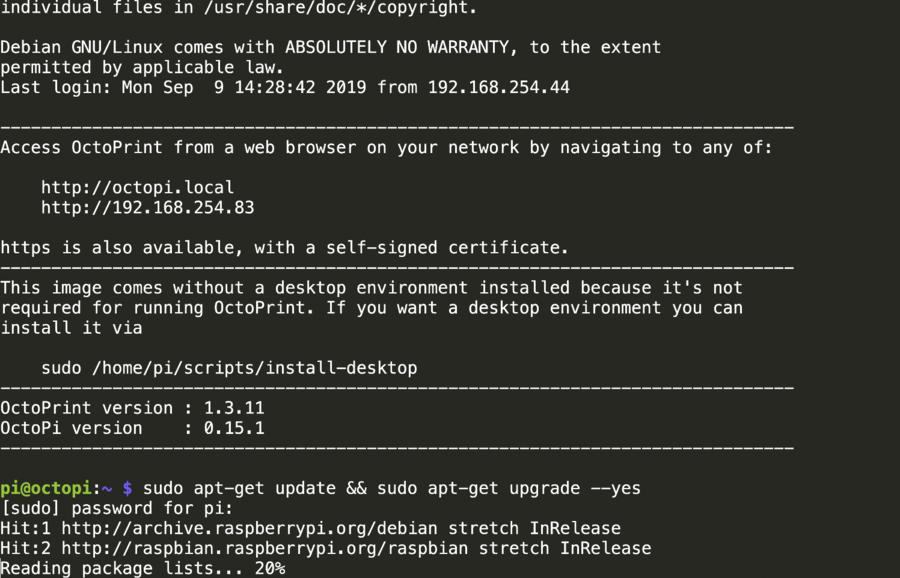 Updating the Raspberry Pi
