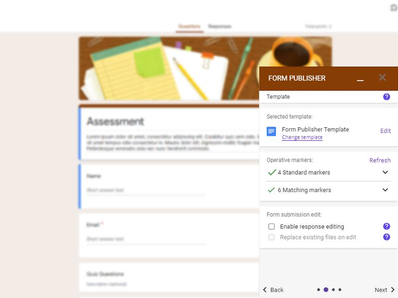 google forms addon form publisher