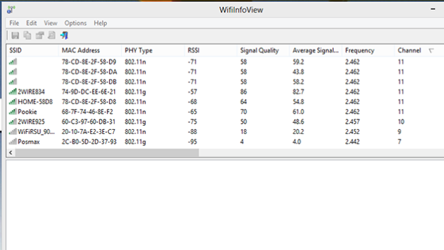 WifiInfoView (Windows Users)