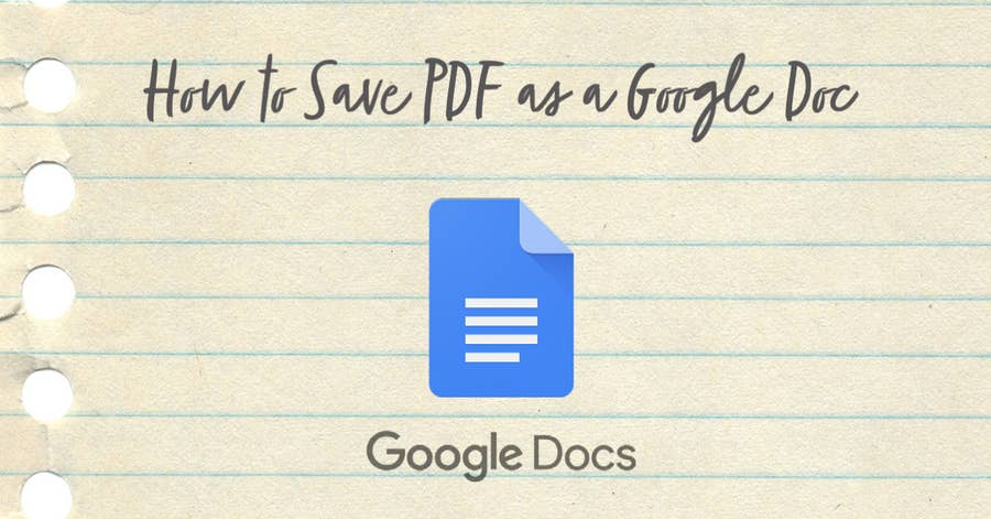 how to save a PDF as a Google Doc