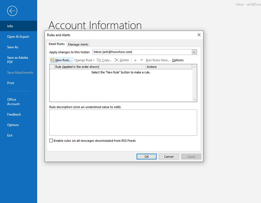 Manage Outlook Inbox
