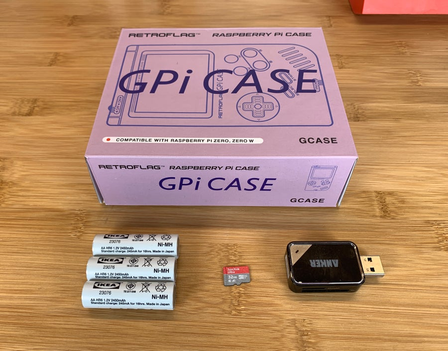 RetroFlag GPi CASE required materials