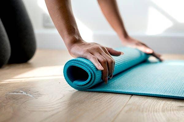 Yoga mat.