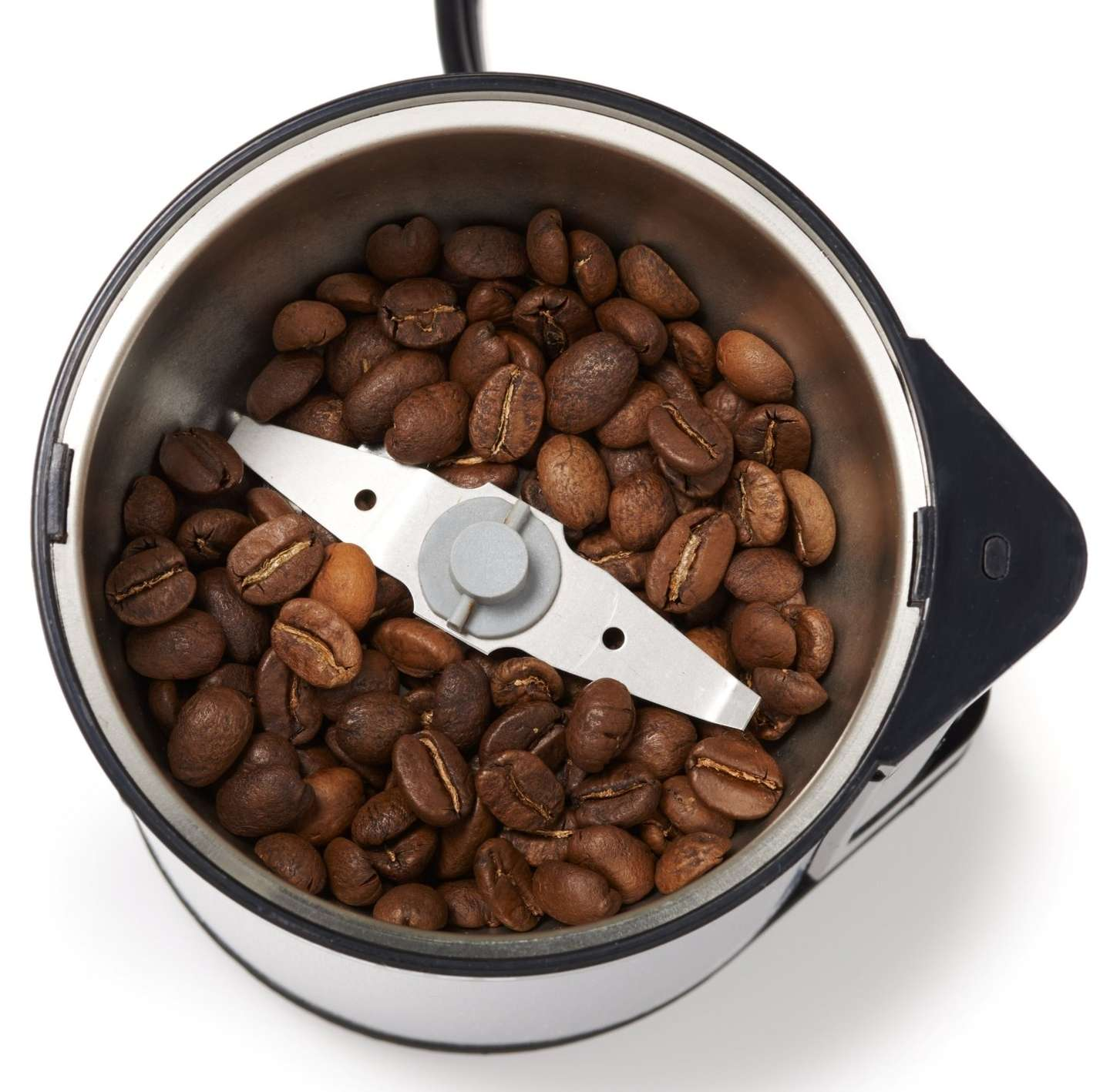 A blade style electric coffee grinder