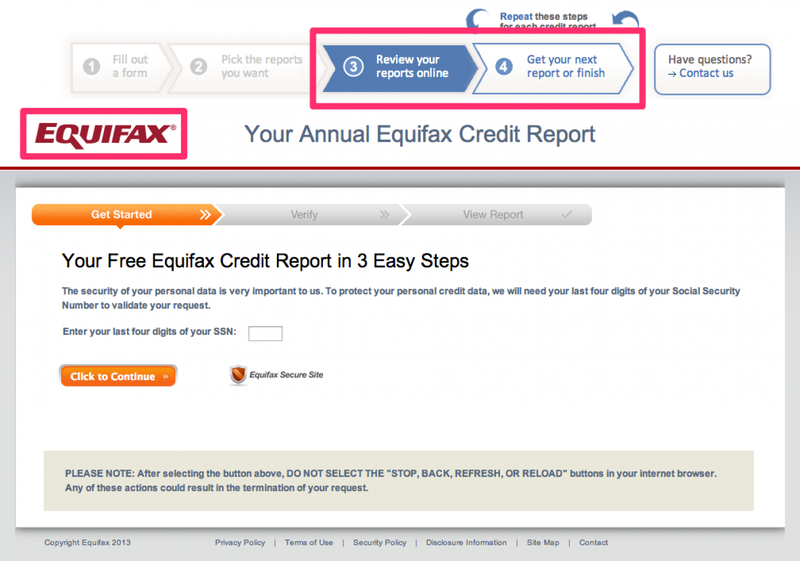 Review and download your reports for each credit bureau