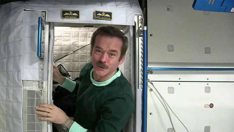 How to sleep in space