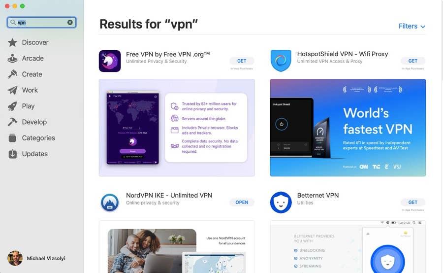 App Store VPN Search