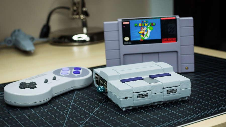 3D-printed Raspberry Pi SNES case