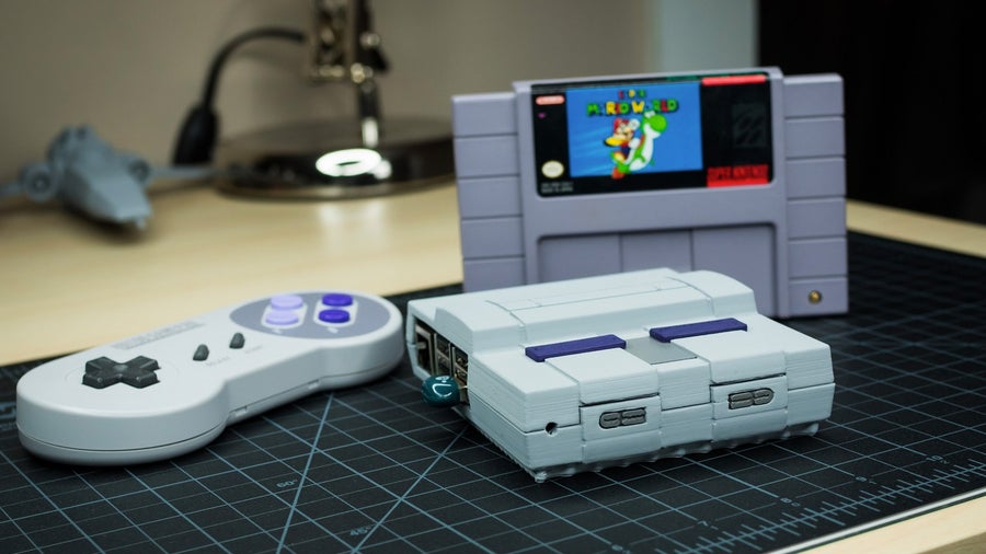 3D-printed Raspberry Pi SNES case