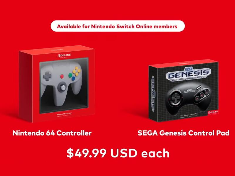 n64 genesis controllers nintendo switch