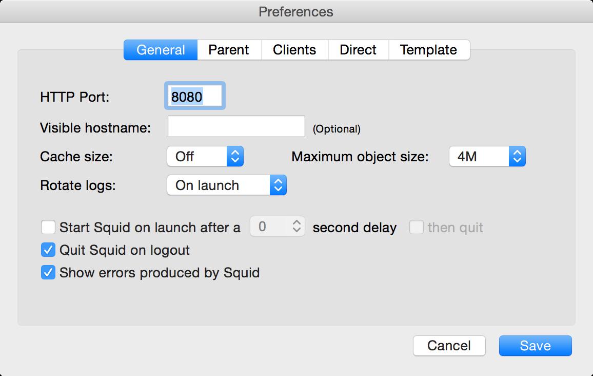 Configure your proxy