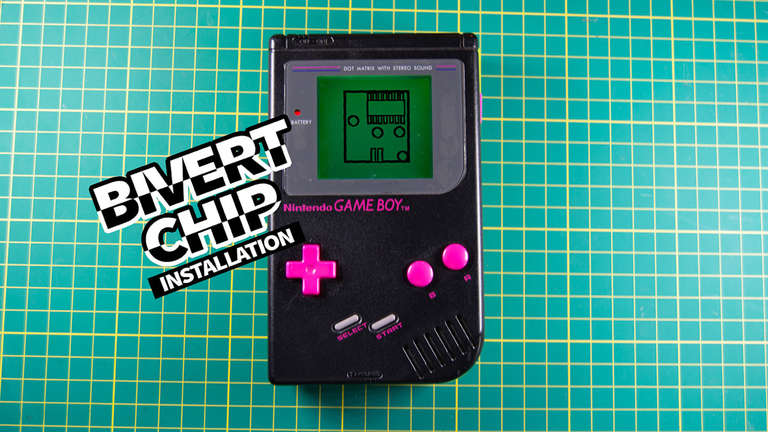 How install the bivert chip mod on an original Game Boy