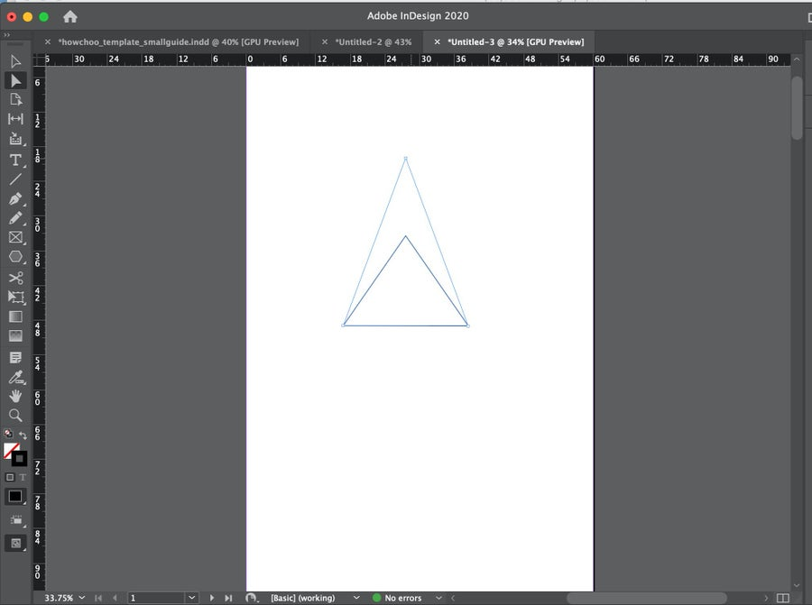 Adjusting Triangle in InDesign