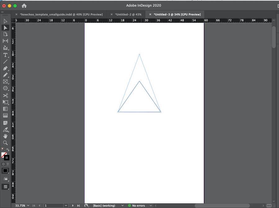 Adjusting Triangle in InDesign