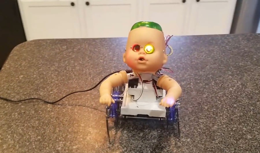 Creepy Baby Robot Halloween