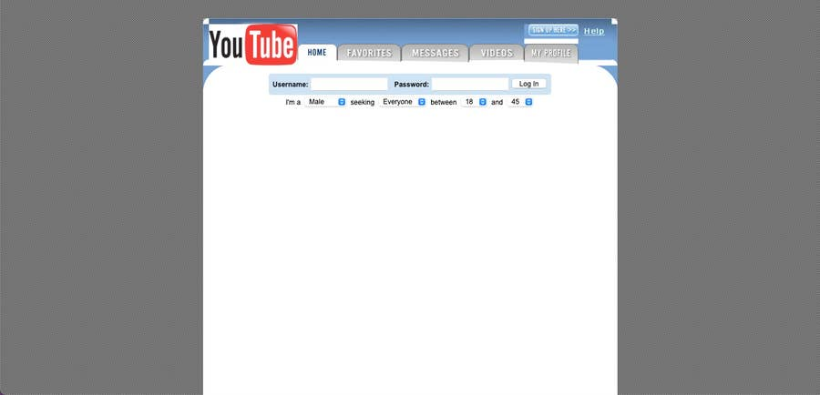 Original Youtube homepage