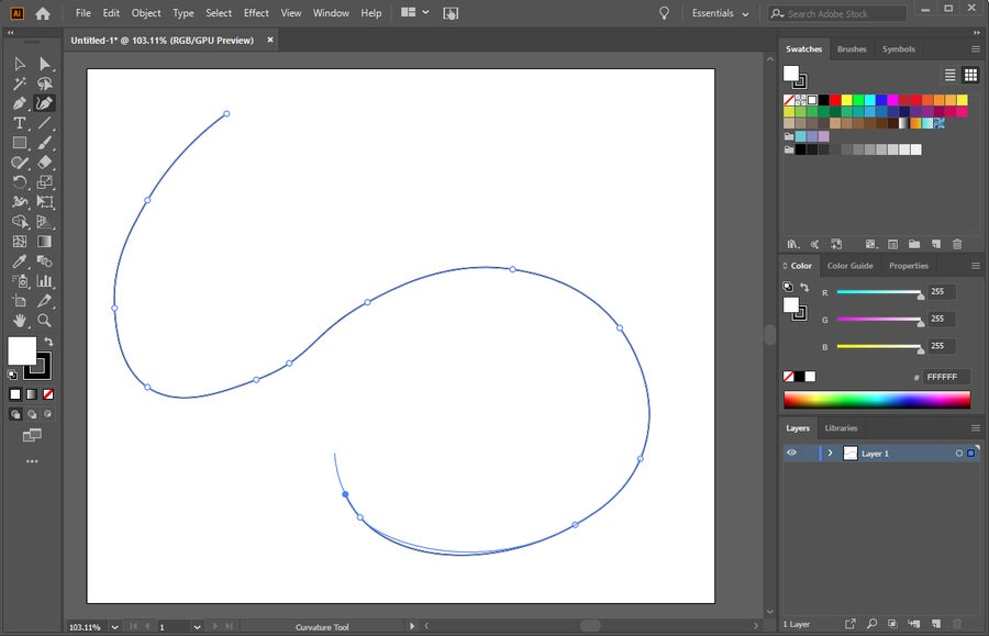 Illustrator Pen Tool Line