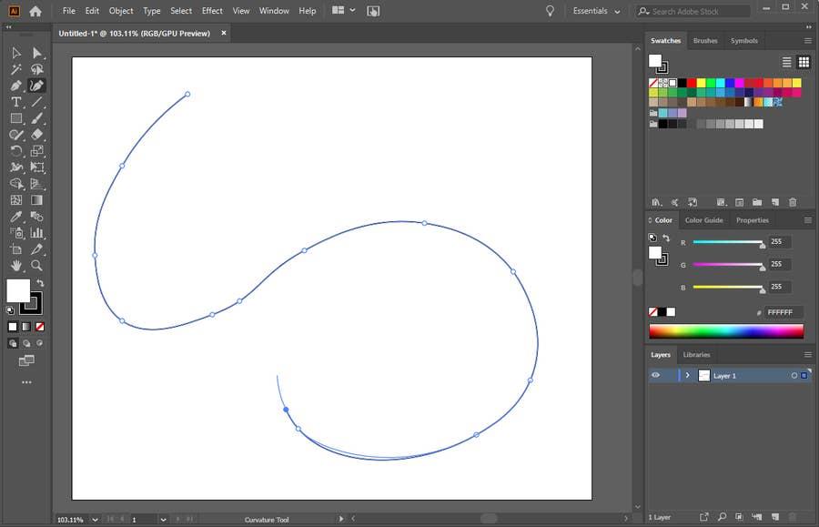 Illustrator Pen Tool Line