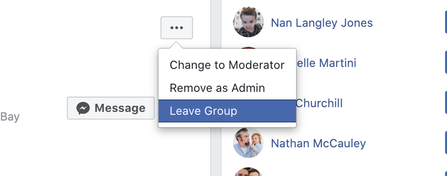 Leave the Facebook group