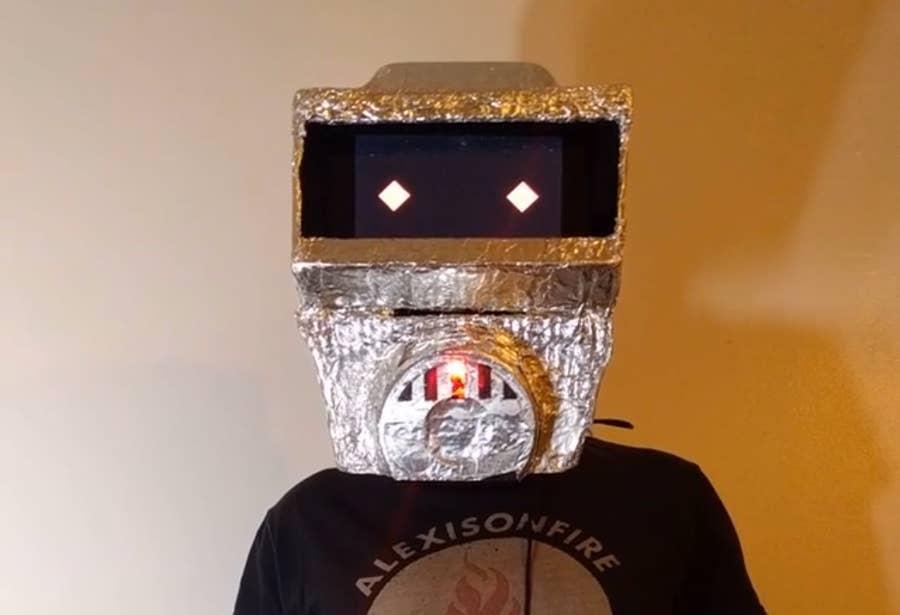 Raspberry Pi Robot Mask