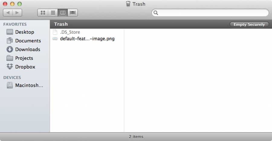 How to securely empty trash by default in Mac OS X