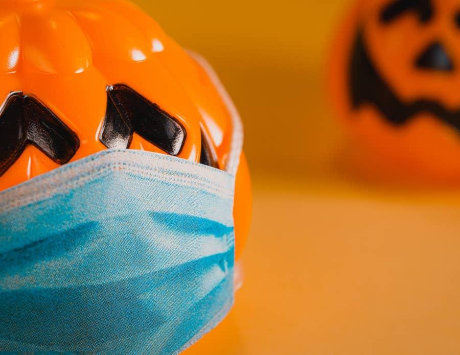 Socially distant pumpkin.