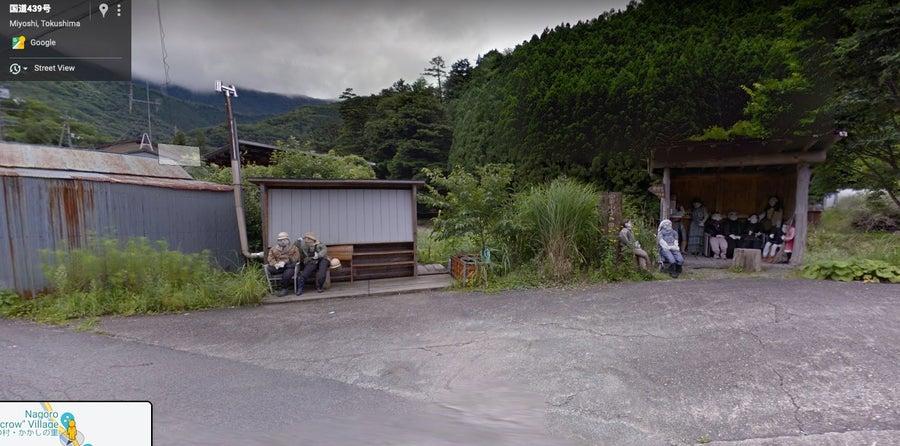 Nagaro scarecrow village google street view
