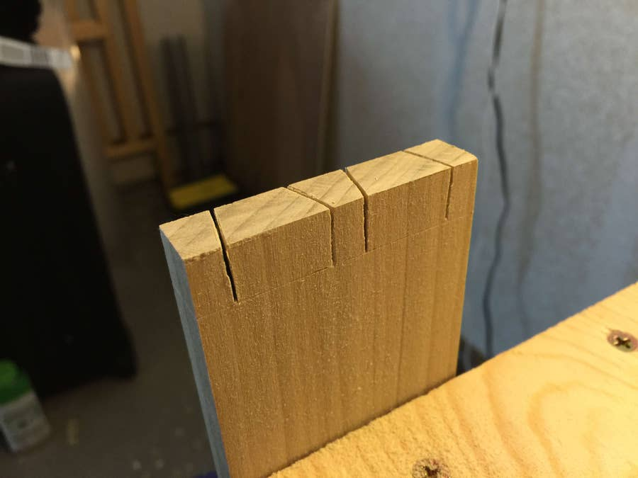 Cut down the top of the pin board