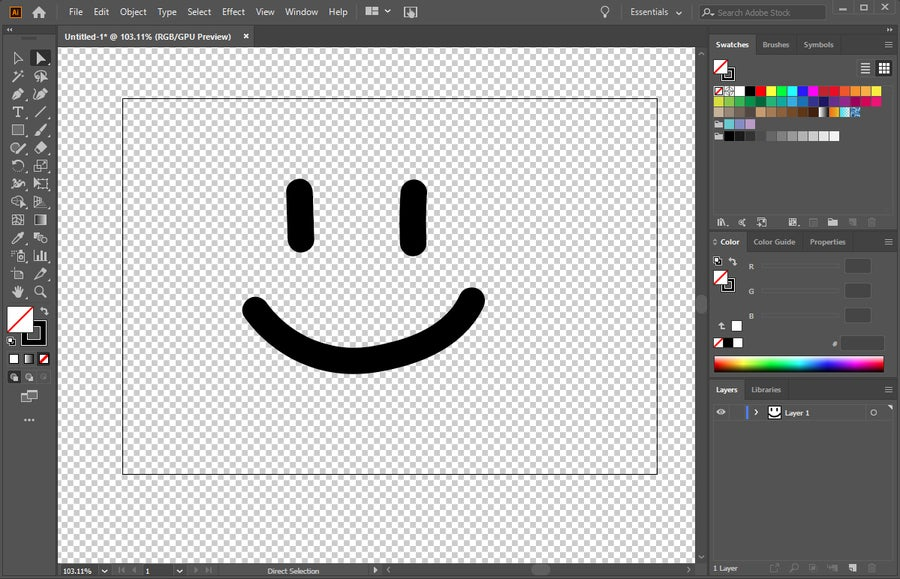 Adobe Illustrator Transparent Image